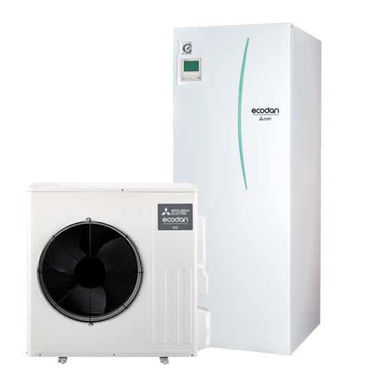 Ilma-vesilämpöpumppu Mitsubishi Electric Ecodan EHST20D-YM9D, SWM60 paketti