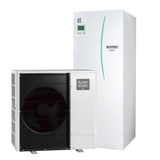 Ilma-vesilämpöpumppu Mitsubishi Electric Ecodan EHST20D-YM9D, SWM80-120YAA paketti